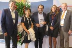 Jaime Barriga, Marcela Vaca, El Presidente Fundador de la ANH Armando Zamora, María Victoria Riaño y Jorge Zajia