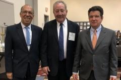 Carlos Rodríguez, Vicepresidente Técnico ANH; Jorge Zajia, Editor in Chief Petroleum; Luis Miguel Espinelli, Presidente ANH
