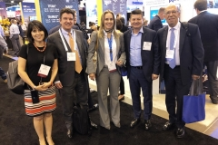 Claudia Rojas, IHS Markit; Luis Miguel Morelli, ANH; María Clara Avilán, KLR; Pedro Gómez, PEGSA; y Carlos José Rodríguez, ANH