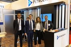 En el booths de PetrolValves observamos a Francesco Conte, Rodolfo Pace, María San Antonio Alonso y Stefano Crespi