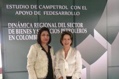 """(2012) - Junto a la """"Dama del Petróleo"""" Margarita Villate, en ese entonces Directora Ejecutiva de la Cámara Colombiana de Bienes y Servicios Petroleros, Campetrol"""