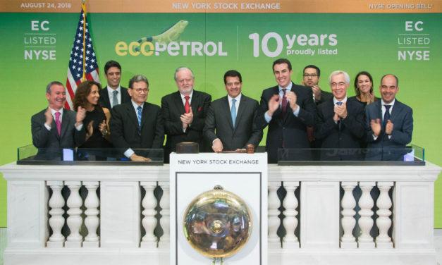 Ecopetrol celebra 10 años de grandes logros en la Bolsa de Nueva York