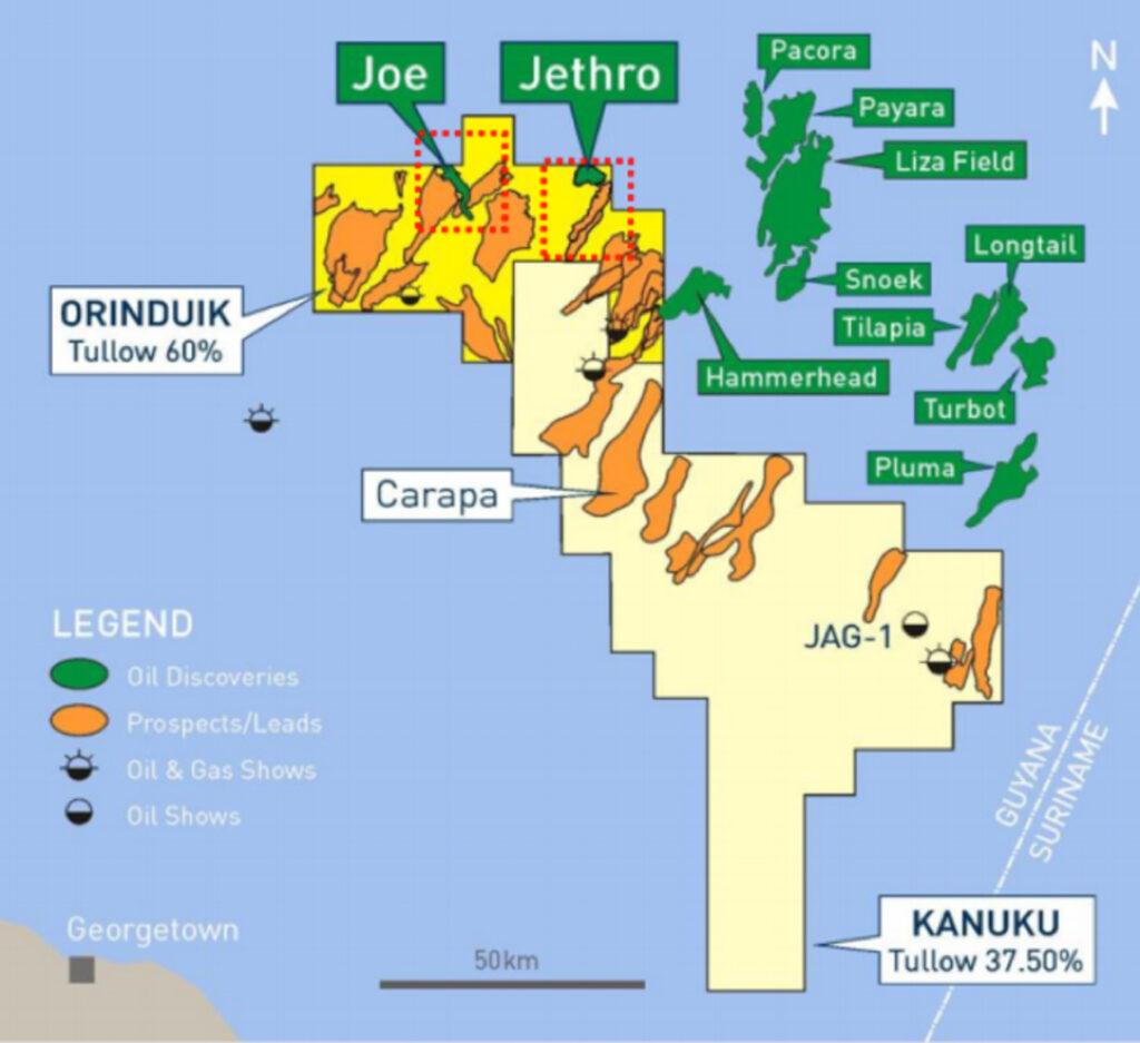 Joe nuevo yacimiento costafuera en Guyana