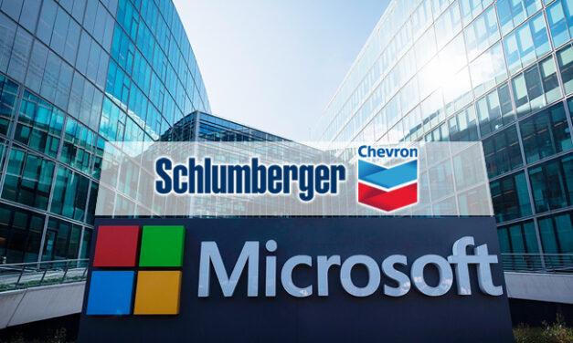 Schlumberger, Chevron y Microsoft anuncian colaboración para la transformación digital