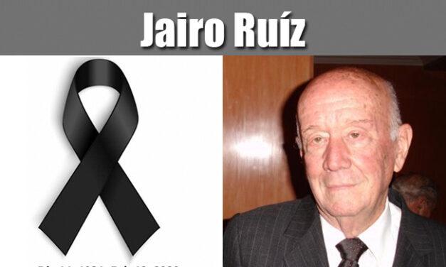 Jairo Ruiz | Dic 14, 1931- Feb 12, 2020