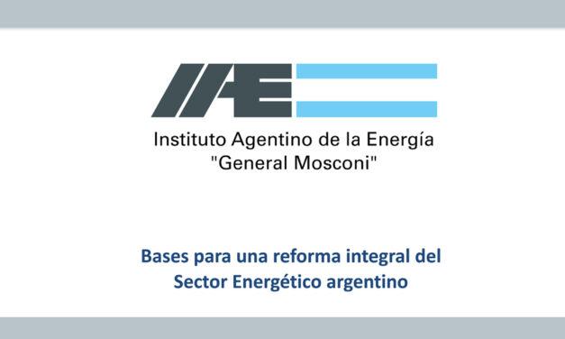 Lineamientos para una reforma integral del sector energético