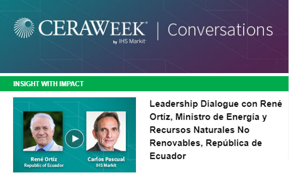 Diálogo con René Ortíz, Ministro de Energía de Ecuador