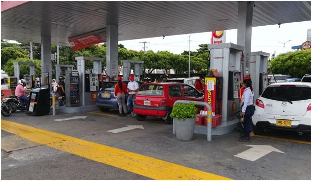 Vigilancia policial en bombas de Cúcuta