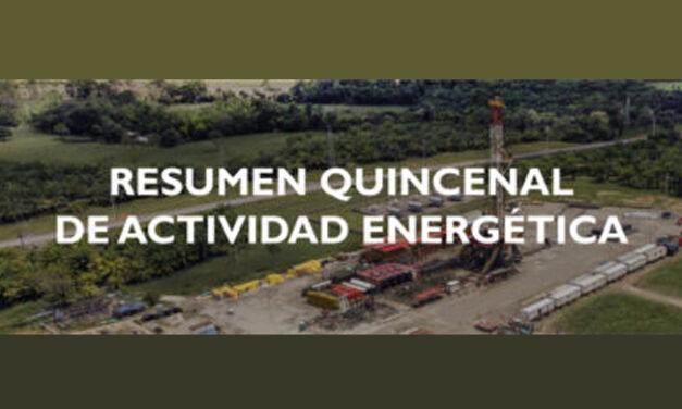 Campetrol | Resumen quincenal de actividad energética | Septiembre 04, 2020